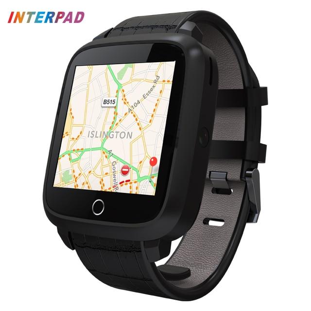 Interpad High Tech Smart Watch Android 5.1 Quad Core MT6580 Smartwatch Поддержка GPS WIFI Наручные Часы С Камерой Компас Часы