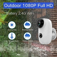 2019 New Home Battery WiFi Camera IP65 Certified Weather Resistant Rechargeable HD Smart Security Camera With Audio