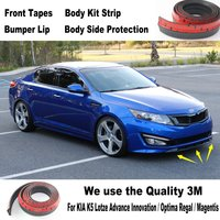 Car Bumper Lips For KIA K5 Lotze Advance Innovation / Optima Regal / Magentis Body Kit Strip / Front Tapes / Body Chassis Side