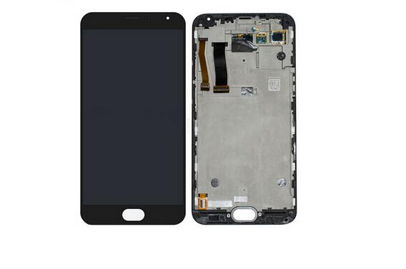5.5 Amoled For Meizu MX5 MTK6795 1920X1080 FHD LCD Display+Touch Panel Digitizer Screen+Frame Assembly black/White