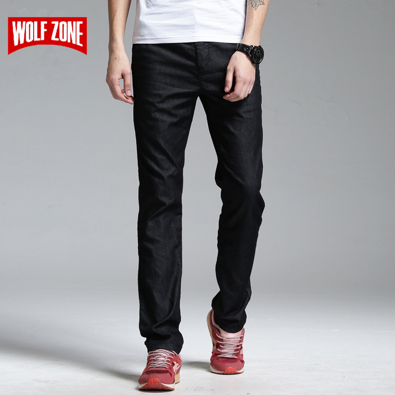 Casual Pants Men Top Fashion Pantalon Homme Cargo Mid Straight Full Length Flat Black Trousers Brand Clothing High Quality