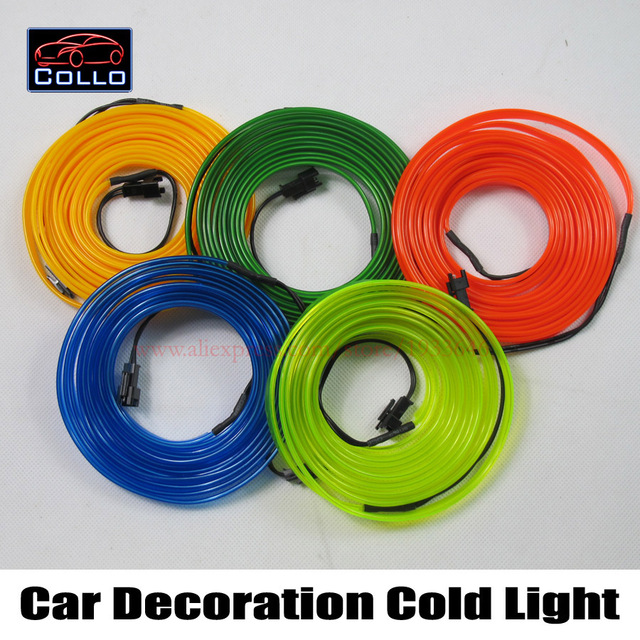 Newest Car console Decorative Strip / 1 Meter EL Wire For All Cars / Car Decoration Cold Light Atmosphere Lamp / Interior Lights