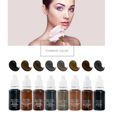 15Ml MICROBLADING SUPPLIES Permanent Makeup Cosmetic Tattoo Pigment Ink Eyebrow Pigment(8Pack) 100 pcs ink permanent makeup pigment 15ml cosmetic 23 color tattoo ink set paint for microblading eyebrow lip body makeup