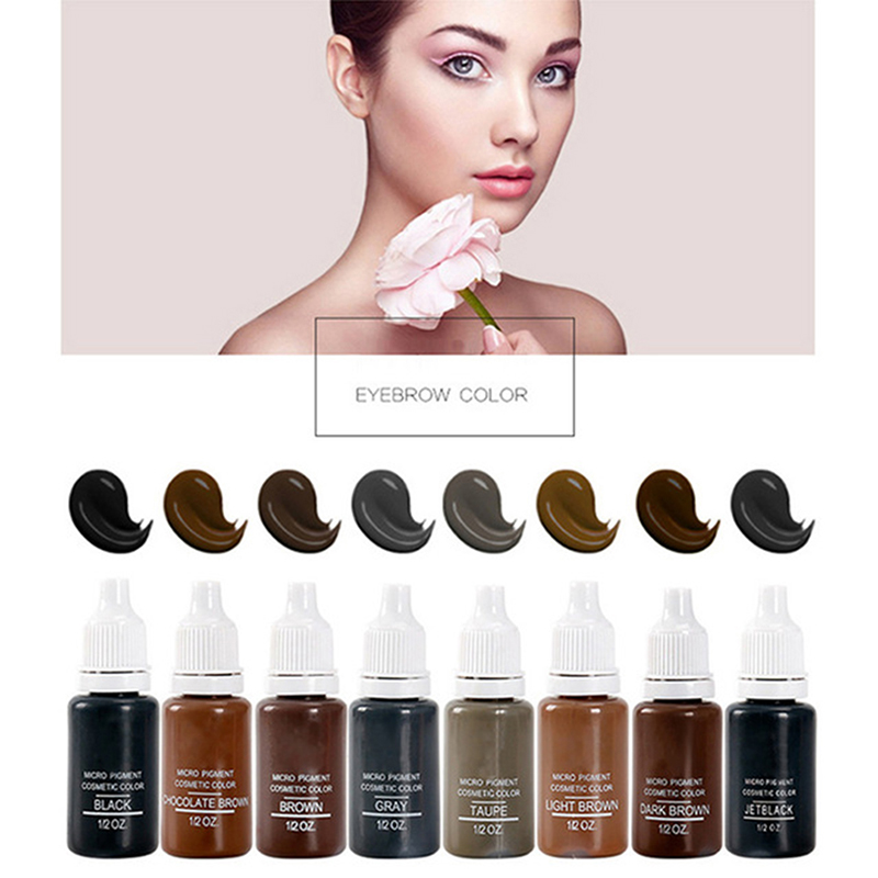 15Ml MICROBLADING SUPPLIES Permanent Makeup Cosmetic Tattoo Pigment Ink Eyebrow Pigment 8Pack in Tattoo Inks from Beauty Health