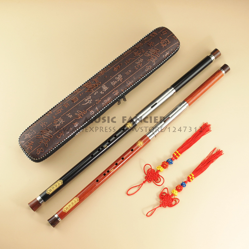 Chinese Traditional High Quality Detachable Single Pipe Cross Bblown Flute/Bawu Ebony Ba Wu Key of G  F  C  bB ebony flute flute keystraditional flute - title=