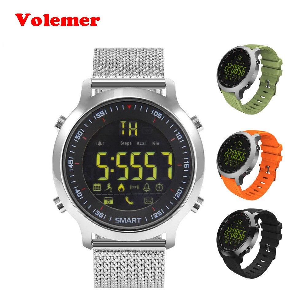 Volemer IP67 Водонепроницаемый EX18 Смарт-часы Поддержка вызова и SMS оповещение шагомер спортивных мероприятий трекер наручные часы Smartwatch ...