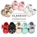 PU leather Baby mocassins girls boys First Walkers hot moccs shoes Soft Bottom Non-slip Fashion Tassels Newborn Babies Shoes
