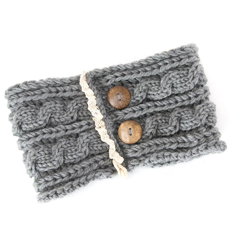 Women Girl Hair Band Knitting Woolen Headbands Winter Bohemia Weaving Wide Woolen Headband Warm Crochet Turban Hair Accessories