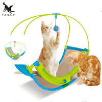 TAILUP Creative Pet Cat Cradle Bed Toys For Kittens Benches Climbing Cat Toy Ball Scratching Small Pet Nest