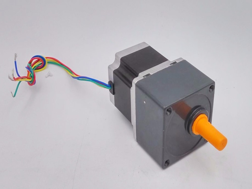 Geared Stepper Motor with Ratio 10:1 Gear Reducer NEMA23 Frame 57mm 41mm long 2A 0.55Nm for DIY CNC Router 57mm gearbox geared stepper motor ratio 20 1 nema23 l 41mm 2a cnc router
