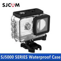 SJCAM accesorios carcasa impermeable 30 M buceo para SJ5000/SJ5000 WIFI SJ5000 plus SJ5000X Cámara de Acción elite