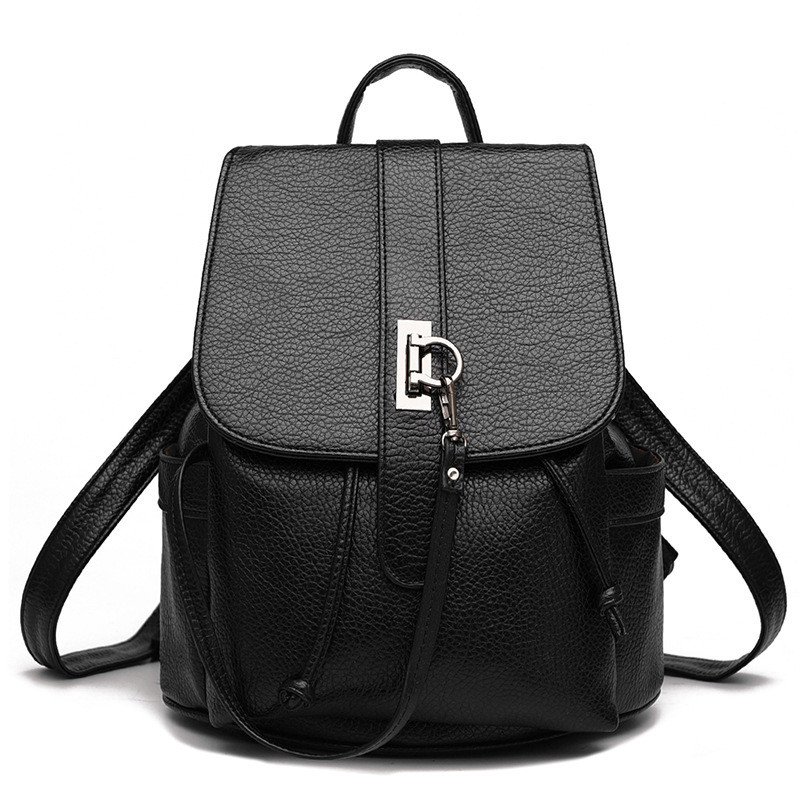 Women Backpack High Quality PU Leather School Bag Women Backpacks Girls Teenagers Interior Compartment Computer Interlayer