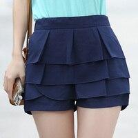 אופנה נשים מכנסיים קצרים מכנסיים קצרים שיפון אמצע מותן ליידי סיבתי מכנסיים Feminino סוכריות צבע קיץ מכנסיים קצרים E500