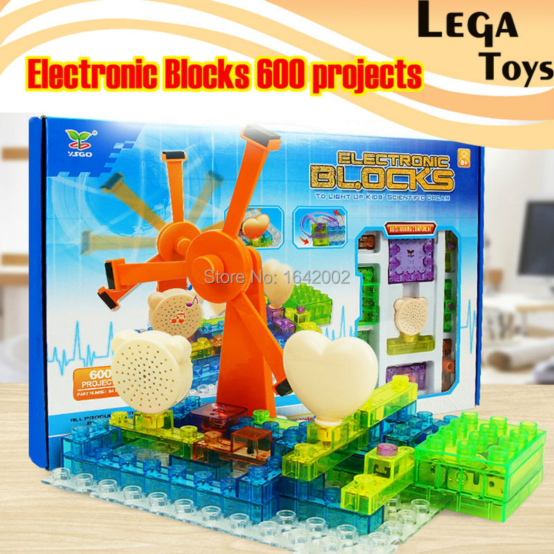 64PCS  Electric Discover Lighted Bricks 600 Projects Electronic Circuits Building Blocks Physics Science Kits  Educational Toys managing projects made simple