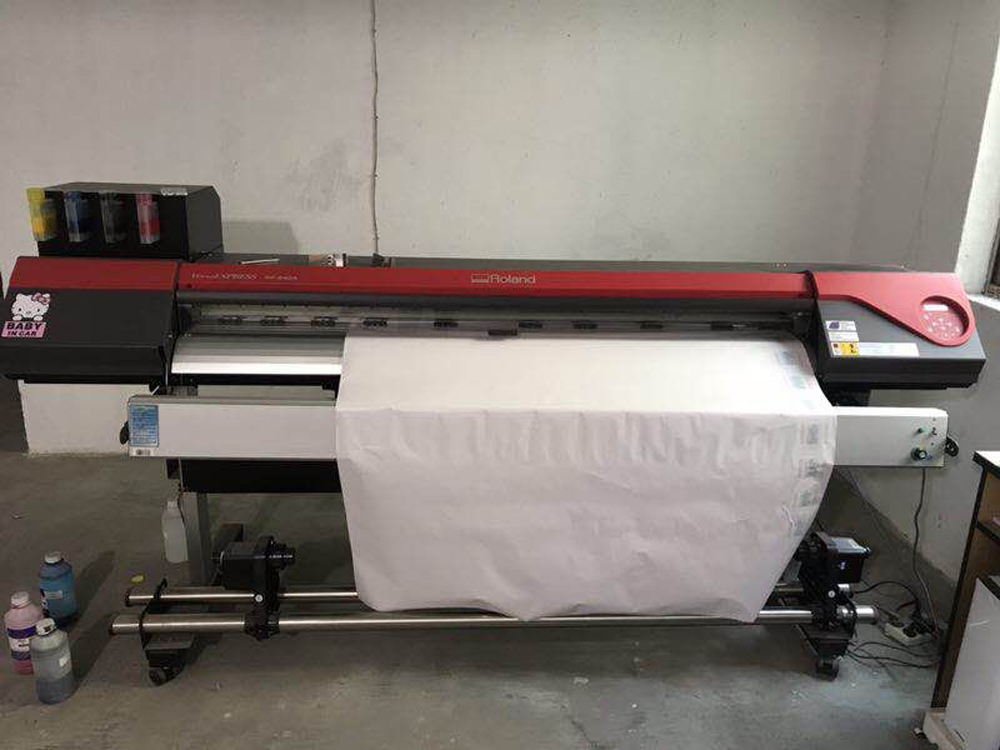 Used Roland RF 640a Printer Second hand eco Solvent Printer with a New DX7 Printhead