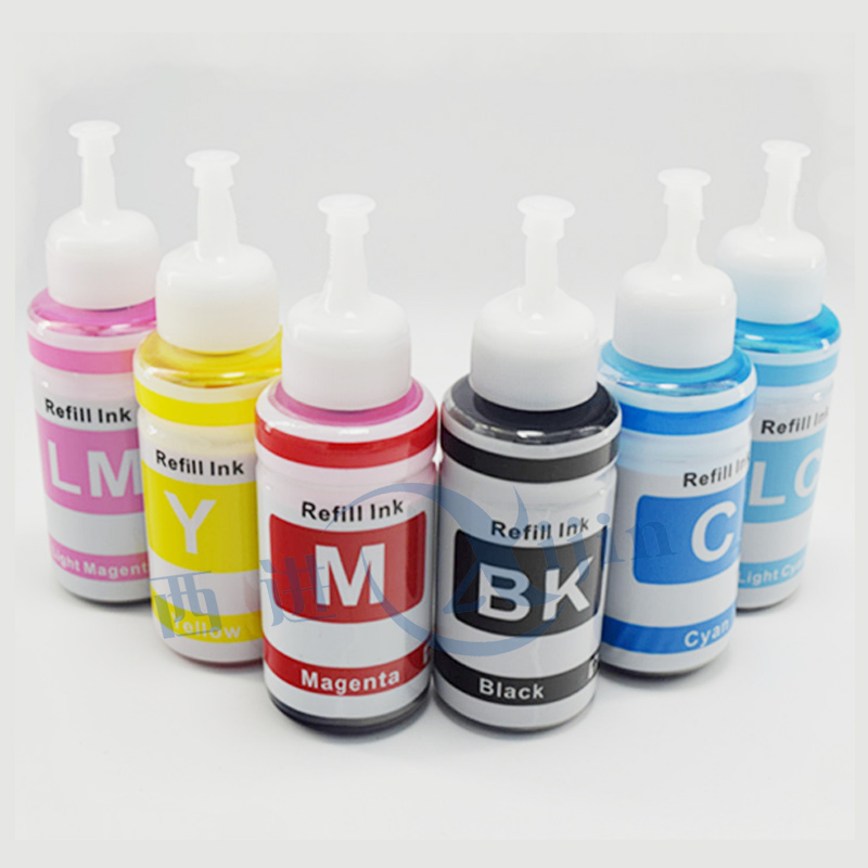 XIJIN 6 color Refill Ink Kit 70ml Dye ink Based compatible for L800 L801 printing ink