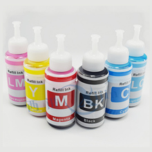 XIJIN 6 color Refill Ink Kit  70ml Dye ink Based compatible for L800 L801 printing ink Cartridge CISS universal products
