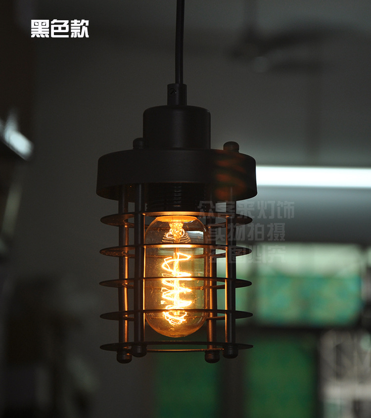 Edison Pendant Lights Iron bar Cafe restaurant creative retro Industrial Pendant Lights Edison hanging lamp Lampen vintage edison chandelier rusty lampshade american industrial retro iron pendant lights cafe bar clothing store ceiling lamp
