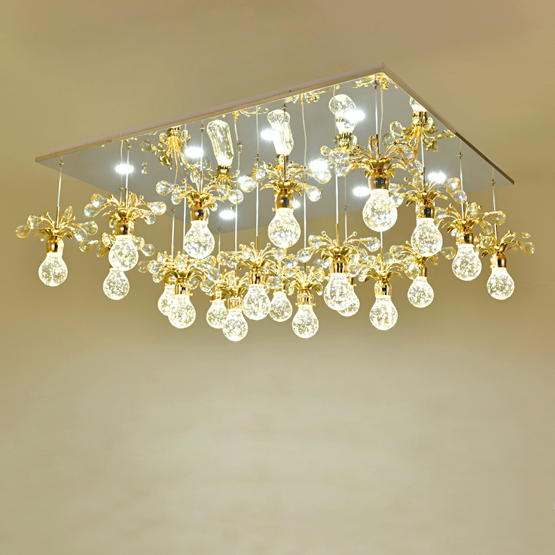 Crystal bubble chandelier bedroom living room lamp simple modern LED lights LED lighting fixture led lamps home crystal lamps free shipping best selling led light fixture bedroom lamp modern simple crystal ceiling chandelier lights