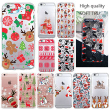 2019 Christmas Santa Claus Elk snowman snowflake Phone Case For iPhone 7 5S SE 4 6s 7 8 Plus X XS MAX XR Soft TPU Silicone cover