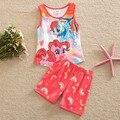 Faldas de las muchachas traje de pantalones niños vistiendo verano nuevo pony bao li niñas vestido de algodón cultiva su moralidad pantalones de traje TZ19001