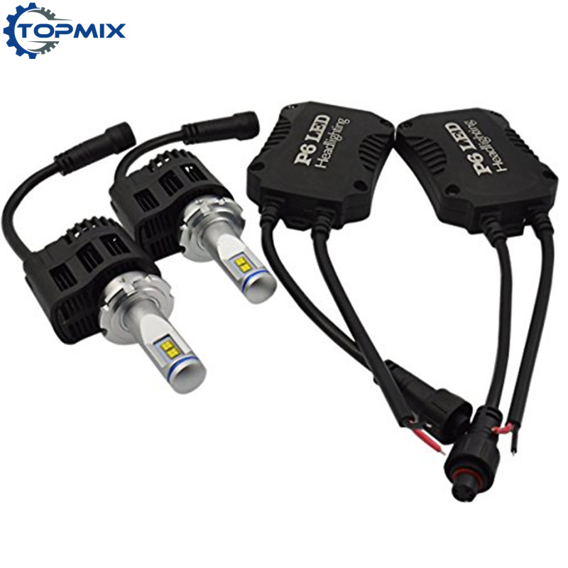 2Pcs Canbus Error Free 55W 5200LM/Bulb D1 D2 D3 D4 Car LED Headlight Bulbs Conversion Kit Super Bright Auto Headlamp 5000K/6000K 2pcs d1 d2 d3 d4 d2s d2r d2c d4 car led headlight conversion kit 110w 10400lm 6000k white light bulbs
