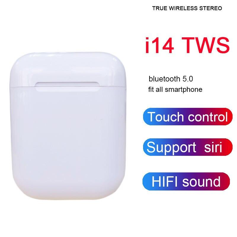 I14 TWS Wireless Bluetooth Earphones With Mic Wireless Bluetooth Headset Touch Control 3D Bass PK I10 I12 I13 I18 I20 I30 TWS