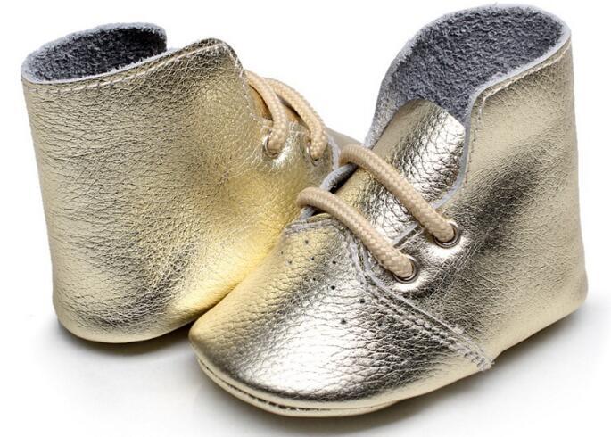 14colors New Fashion højhæl Støvler airhole Design ægte læder baby moccasiner blonderende sål First walkers baby sko