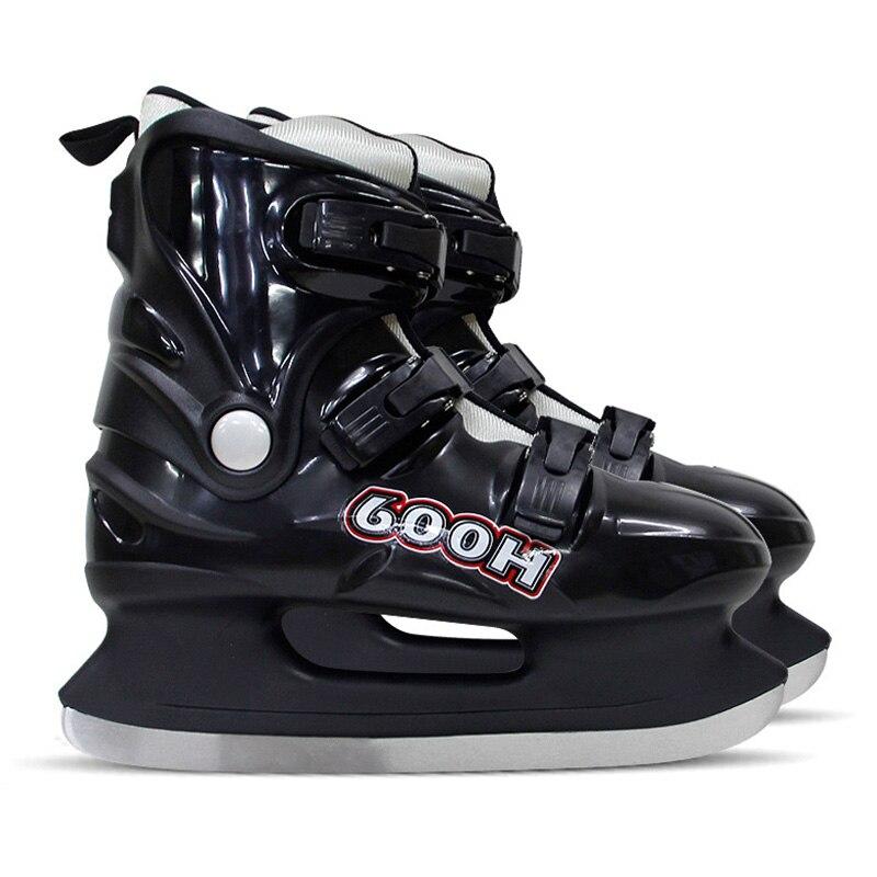 冬の大人のティーンエイジャー PP プロ熱暖かい厚みアイススケート靴アイスホッケー刃スケート快適な初心者  グループ上の スポーツ & エンターテイメント からの スケートシューズ の中 1