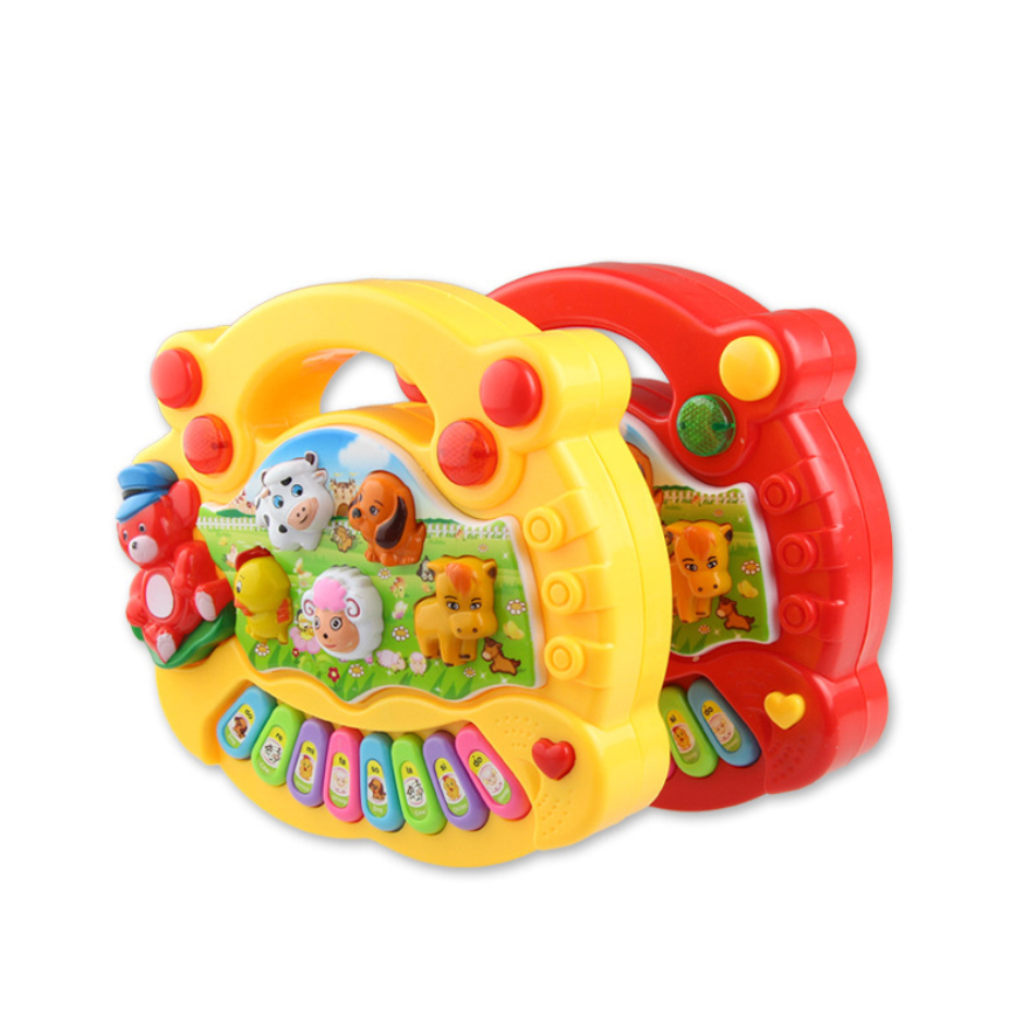 1 Pc New Baby Kids Musical Instrument Educational Playing Animal Farm Piano Developmental Music Toy Baby Best Festival Gift