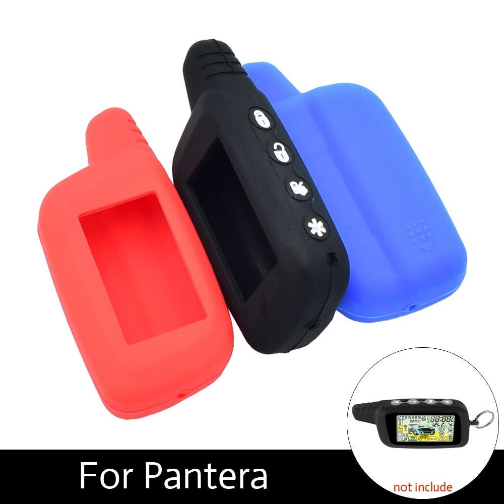 ATOBABI Silicone Keychain Case For Pantera LCD SLK-625 SLK-675RS SLK-650RS Burgar Alarm Remote Control 2 Way Car Alarm Keychain