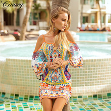 Bathrobe For The Beach Separate Swimsuit Women Tunic On Ladies Clothes 2009 Dresses New Printed Milk Silk Size Skirt Print