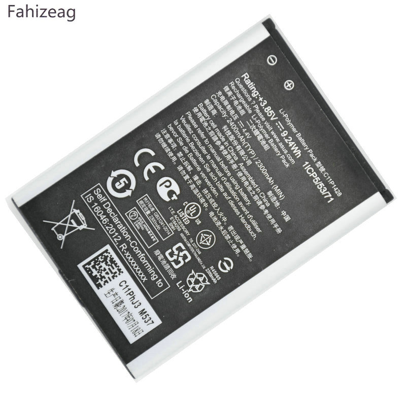 fahizeag 5Pcs 3.85V 2400mAh C11P1428 Phone Replacement <font><b>Battery</b></font> <font><b>for</b></font> <font><b>Asus</b></font> <font><b>Zenfone</b></font> <font><b>2</b></font> <font><b>Laser</b></font> <font><b>ZE500KL</b></font> ZE500KG <font><b>battery</b></font> image