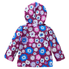 Children Girls Jackets hooded Cartoon Printing Trench Outerwear Kids Coat Baby Raincoat Spring Outwear Brand Children Clothing