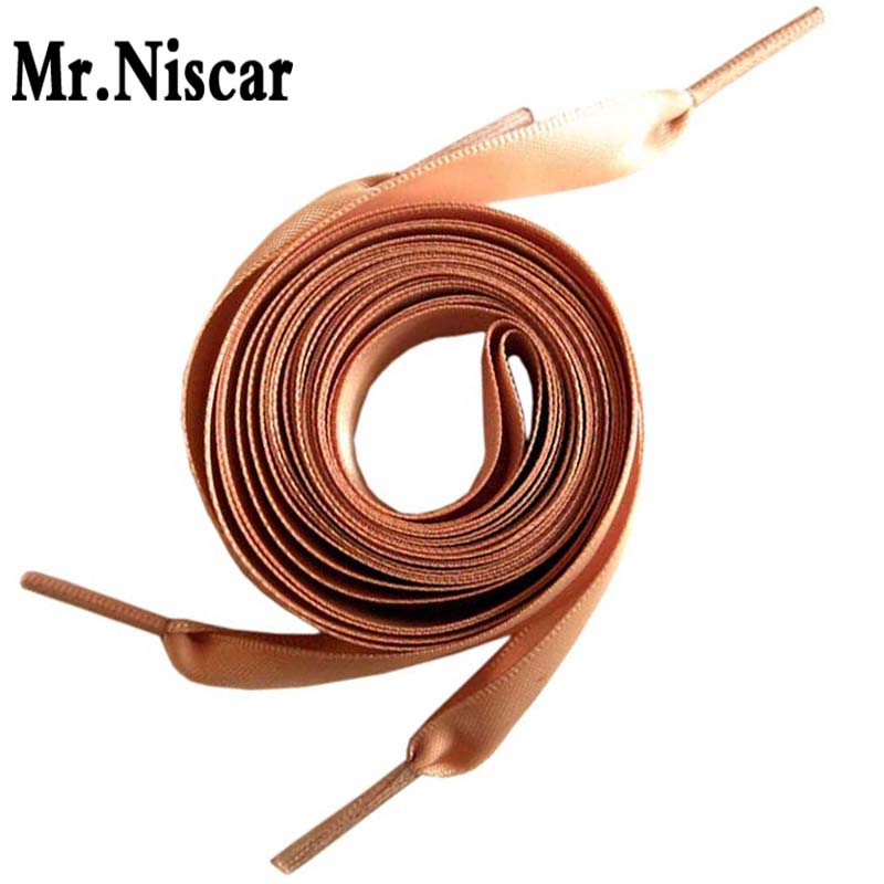 1 Pair Khaki Flat Silk Ribbon Shoelaces Candy Color Satin Shoe Laces Sneaker Sport Shoes Fantastic Bootlaces Shoe Rope 50-200cm weiou fashion flat silk ribbon shoelaces princess sneaker colorful sport shoes laces with 2cm width metal aglets drop shipping