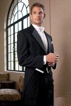 Men business Suits men wedding Suits slim fit fashion black men groom tuxedos jacket+pant+vest