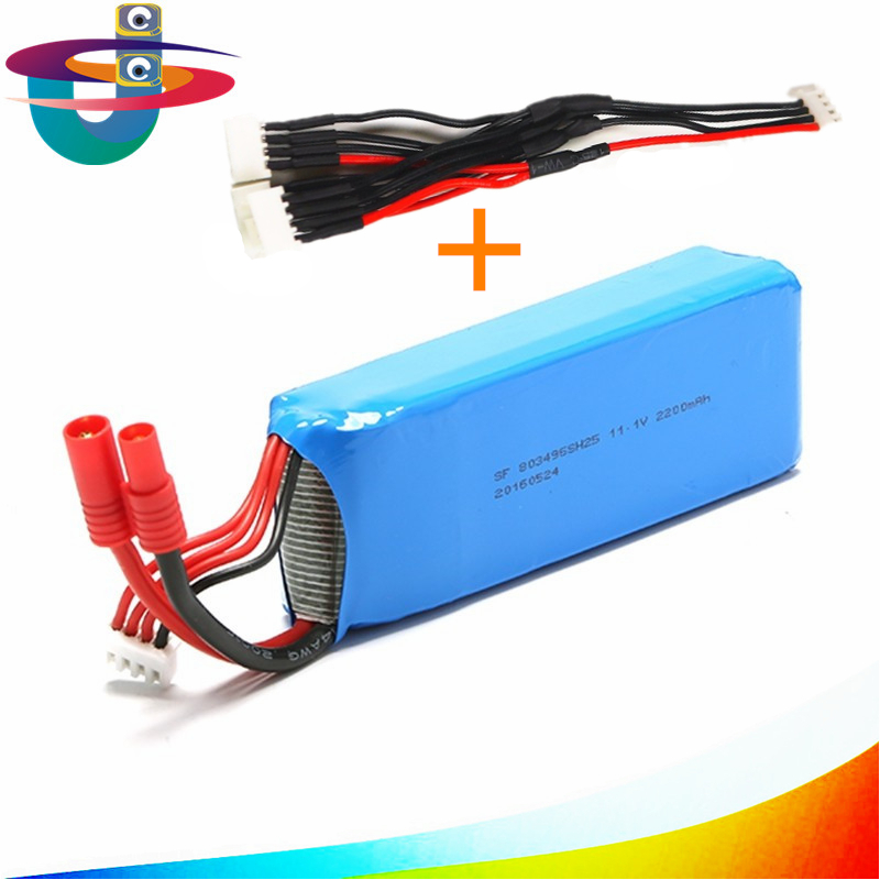 Free shipping One piece 11.1V 2200mAh Battery with 3in1 cable for Rc Quadcopter drone bayangtoys x21 x16 3pcs battery and european regulation charger with 1 cable 3 line for mjx b3 helicopter 7 4v 1800mah 25c aircraft parts