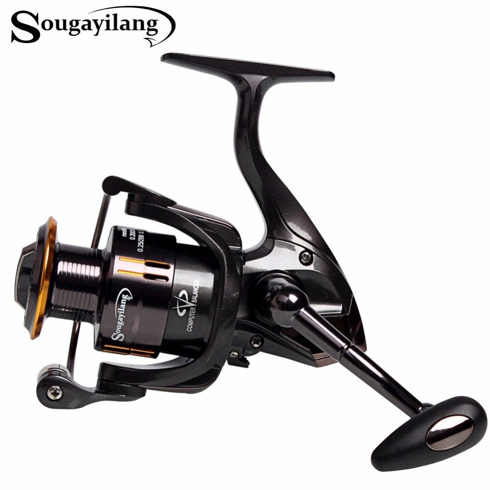 Sougayilang Fishing Coil Wheel Spinning Reels Full Metal Wheel 13+1BB Spinning Trout Fishing Reel Tackle Vara De Pesca