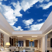 Custom 3D Wallpaper Wall Painting Decor Photo Backdrop Blue Sky White Clouds