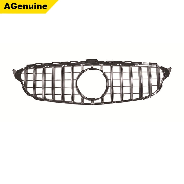 Chrome Auto Front Grill Grille Mesh For Mercedes Benz B: Chrome Glossy Black GT Style Facelift Car Front Bumper