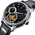Luxus Marke Schweiz NESUN Skeleton Diamant Uhr Männer Automatische Selbst Wind männer Uhren 100M Wasserdichte uhr N9093-7