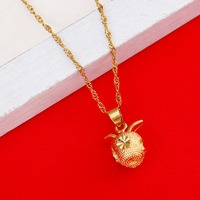 Wholesale Sale New Fashion Pendant Jewelry 18K Gold Women Chain Apple Necklace Pendant Gift