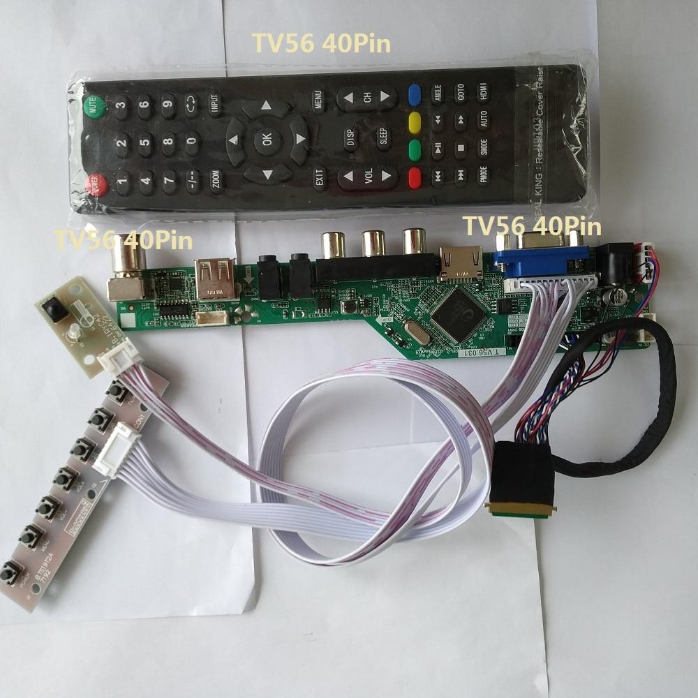 Kit For B156XW04 V5 LCD LED Panel Screen TV AV 15.6