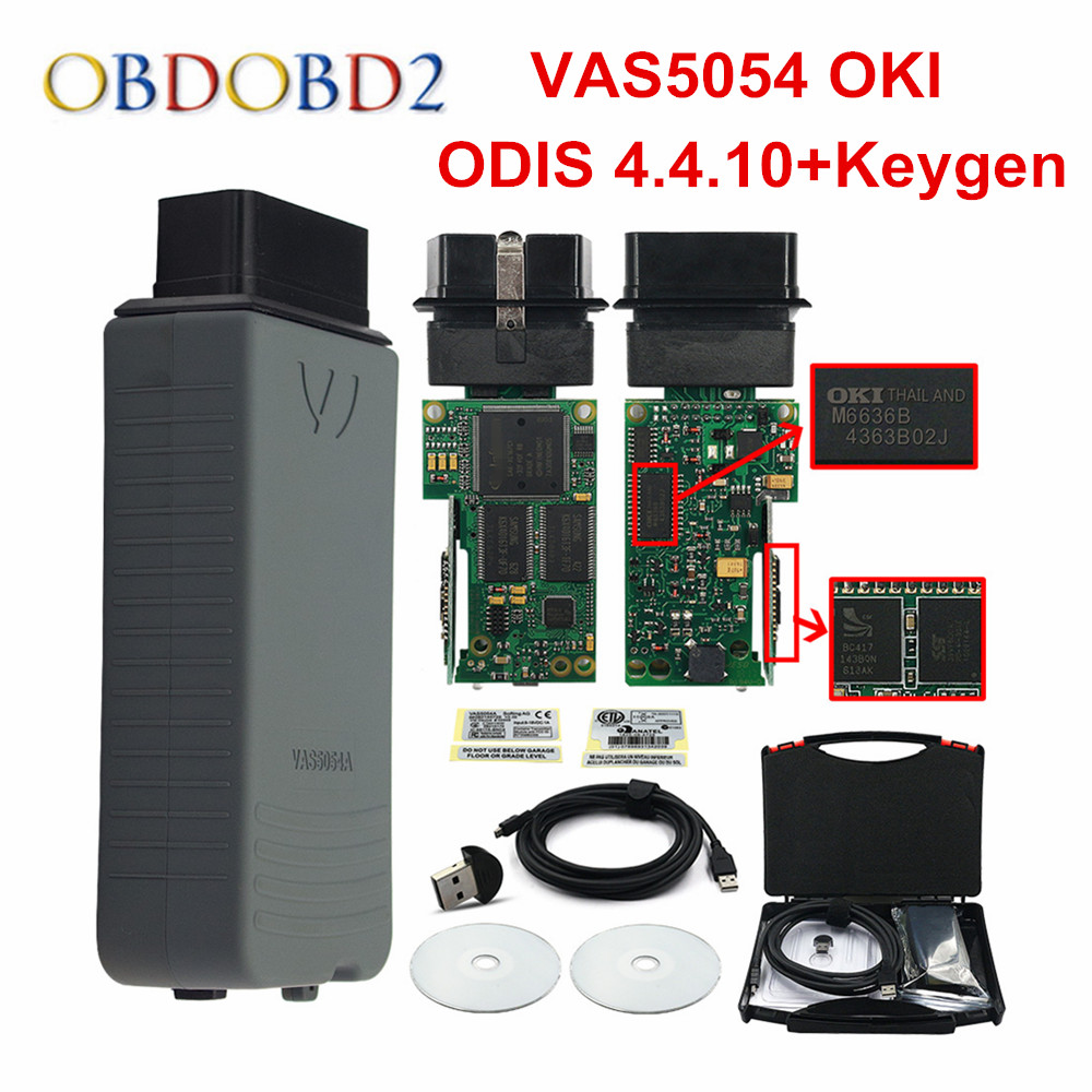 OKI Full Chip VAS 5054A VAS5054A ODIS V4.4.10 With UDS Protocol VAS5054 Keygen 4.4.4 Multi-Languages VAS 5054 Free Ship