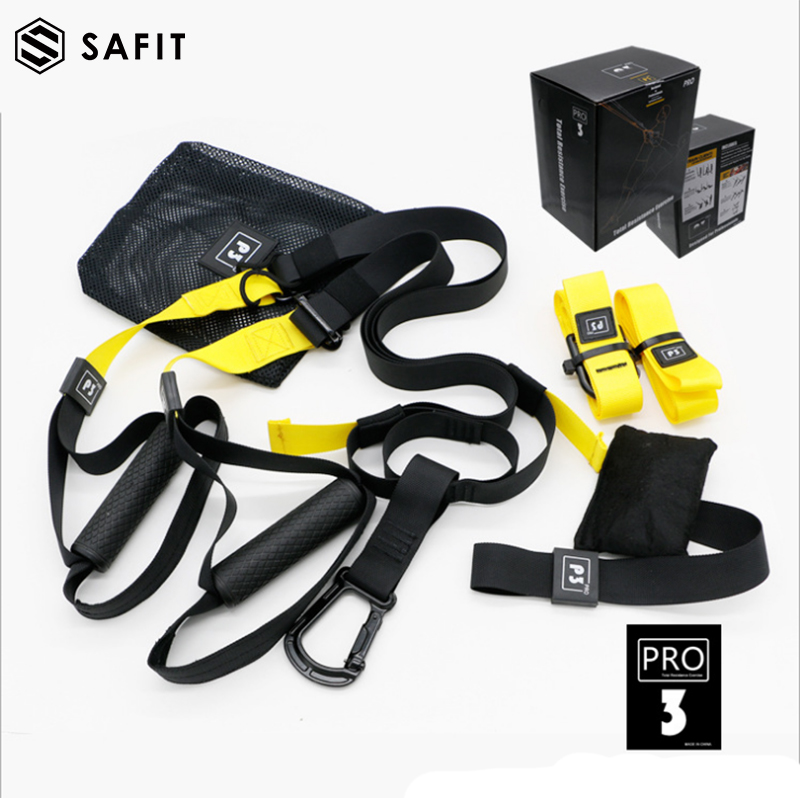 SaFit Resistance Bands Adjustable Hanging training straps Exercise Bands Basic Kit + Door Anchor,Tension Pull Rope for Home Exe