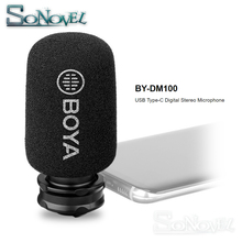 BOYA BY-DM100 Digital Condenser Stereo Microphone for Android Huawei For Samsung Galaxy S9/S9+/S8/S8+/S7+/C9/C7/C5 USB Type-C