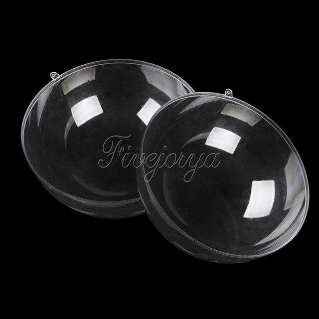 9db24d07b0 5 Pcs/Lot 30mm Transparent en plastique cadeau boîte à bonbons remplissable boule  boules décor