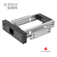 Aluminum 3 5 Inch SATA HDD Mobile Frame With Led Light Rack Support 6TB Capacity