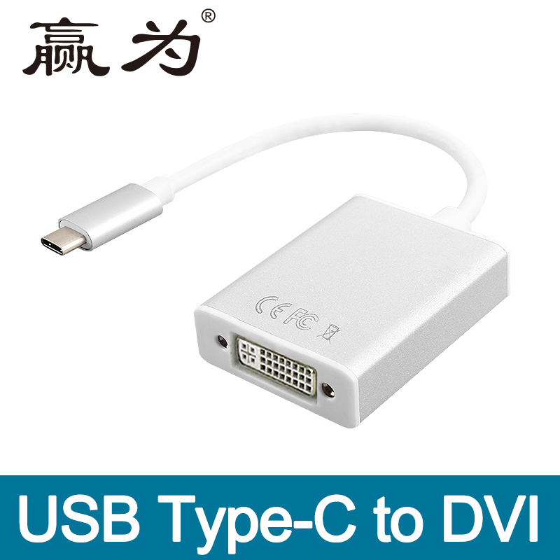 Thunderbolt3 USB-C USB Type-C to DVI Converter Adapter Cable for Macbook/ Chromebook Pix ...