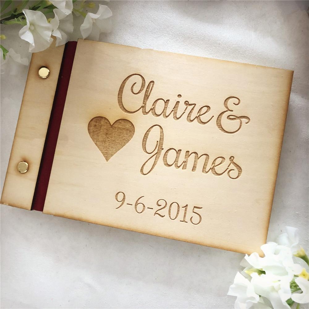 Custom Wedding Guest Book New Design Personalized Bride